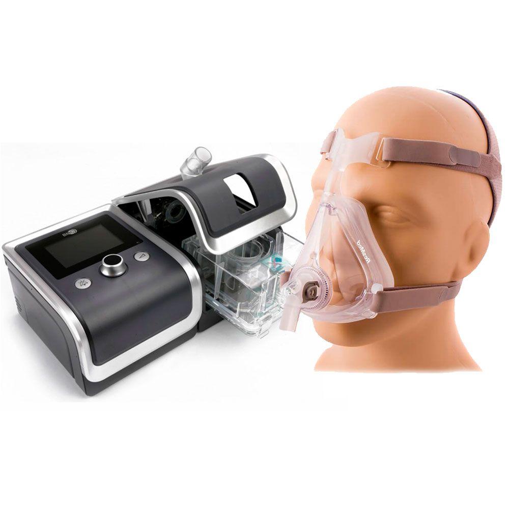 CPAP Automático RESmart G2 + Umidificador + Máscara Quattro Air Resmed