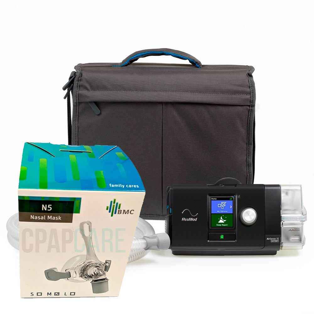 CPAP Automático S10 ResMed + Máscara Nasal N5 BMC Medical