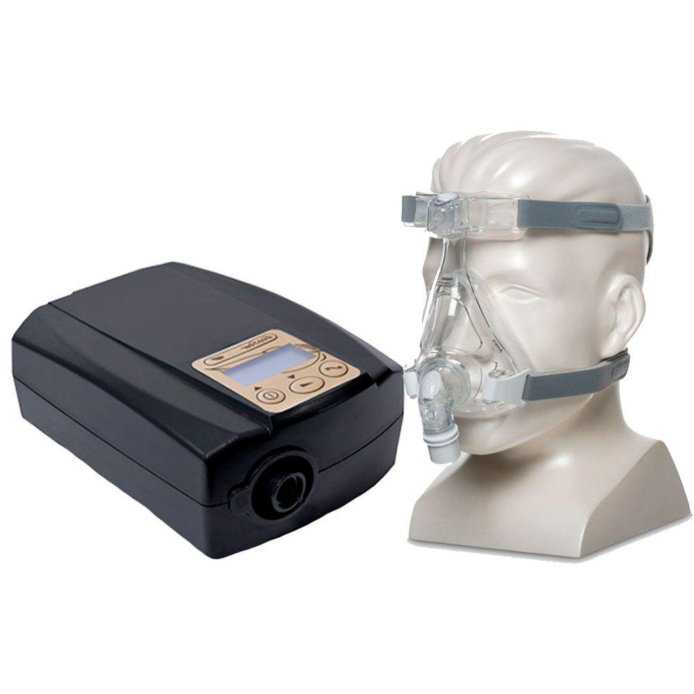 CPAP Fixo Ecostar Sefam + Máscara Oronasal Amara Silicone