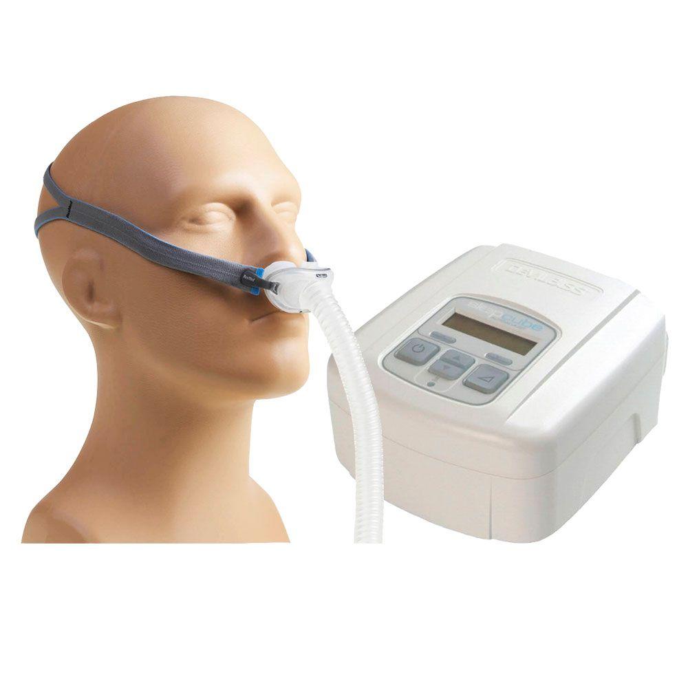 CPAP SleepCube Automático Devilbiss + Máscara AirFit P10 Resmed