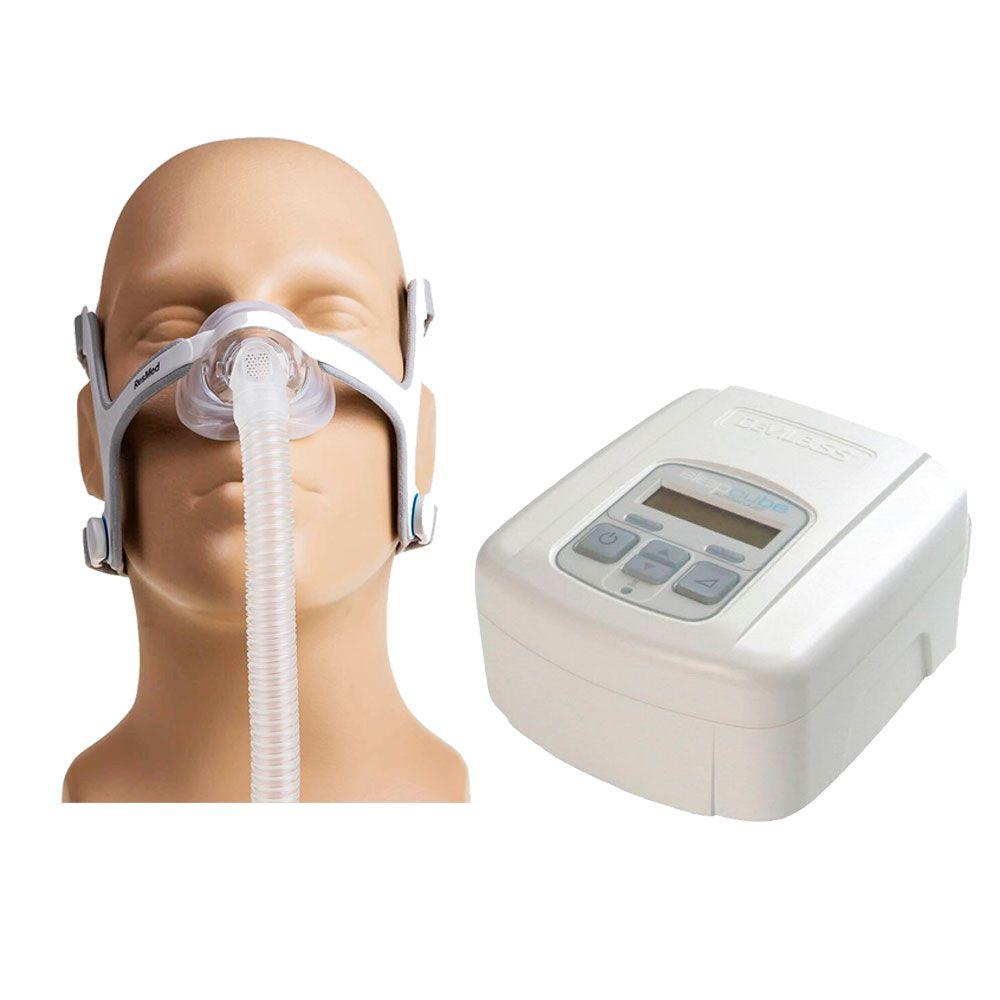 CPAP SleepCube Automático Devilbiss + Máscara Nasal AirFit N20 Resmed