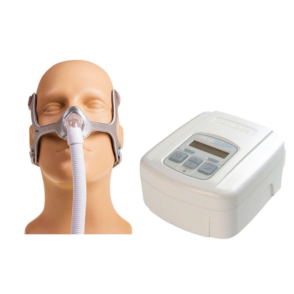 CPAP SleepCube Automático Devilbiss + Máscara Nasal Wisp Tecido