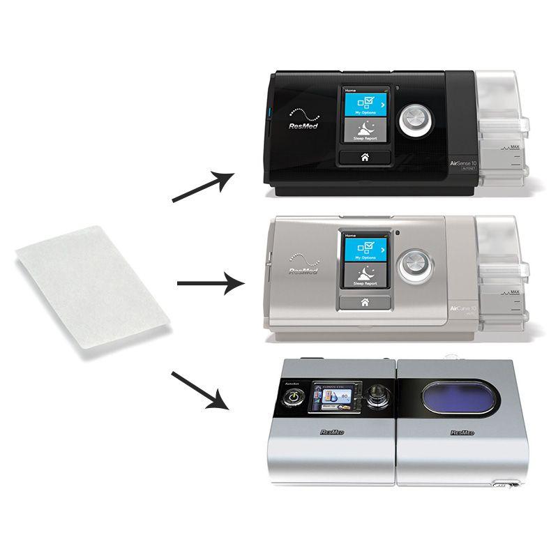 Filtro Ultrafino Nacional VentCare para CPAP e VPAP S9, AirSense 10, VPAP AirCurve Resmed