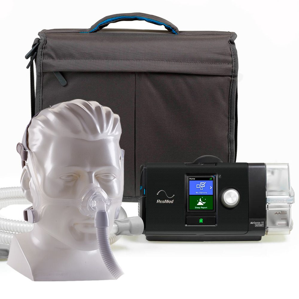 Kit CPAP Auto S10 Resmed + Umidificador + Wisp Silicone