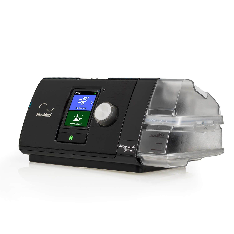 Kit CPAP Automático AirSense 10 AutoSet com Umidificador Resmed + Máscara Nasal Ivolve N2 BMC