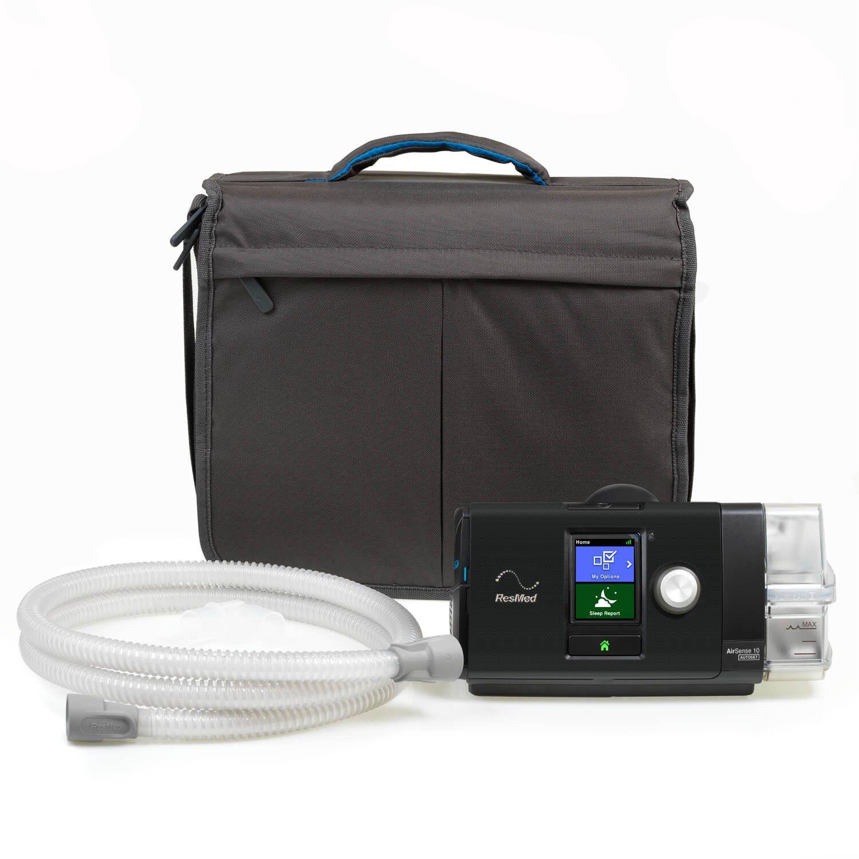 Kit CPAP Automático AirSense 10 AutoSet com Umidificador Resmed + Máscara Nasal Meridian