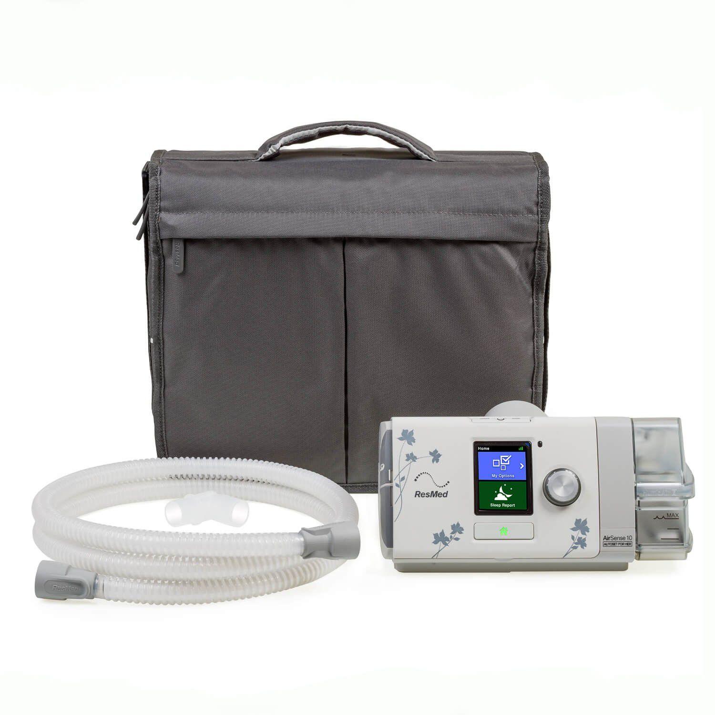 Kit CPAP Automático AirSense 10 AutoSet For Her + umidificador + Máscara Nasal Hospitalar/Domiciliar Ventilada