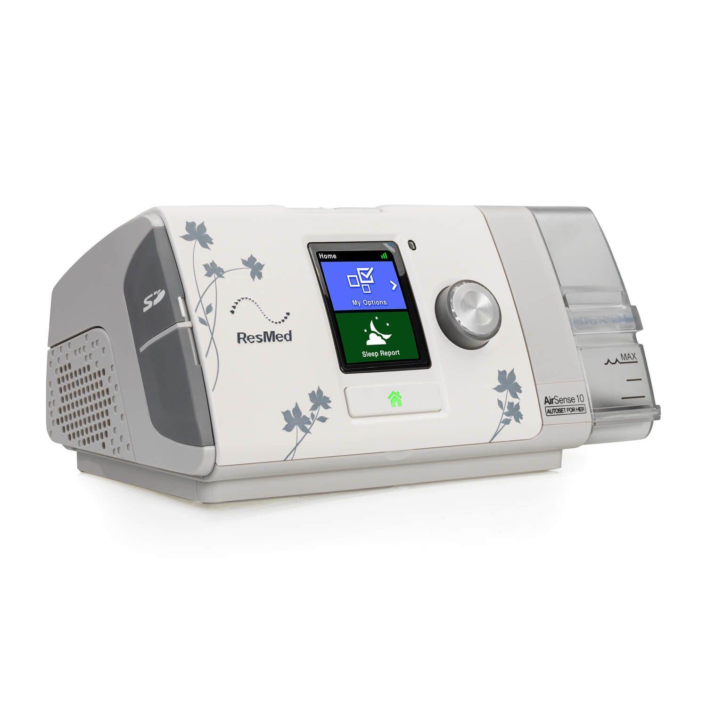 Kit CPAP Automático AirSense 10 AutoSet For Her + umidificador + Máscara Oronasal Mirage Quattro