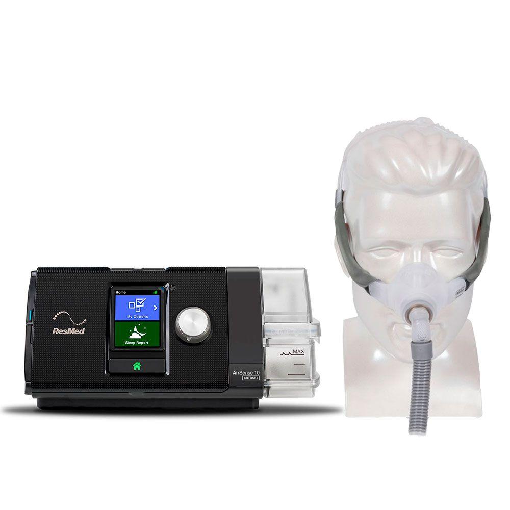 Kit CPAP Automático AirSense 10 AutoSet + Umidificador + Swift FX Nano Resmed