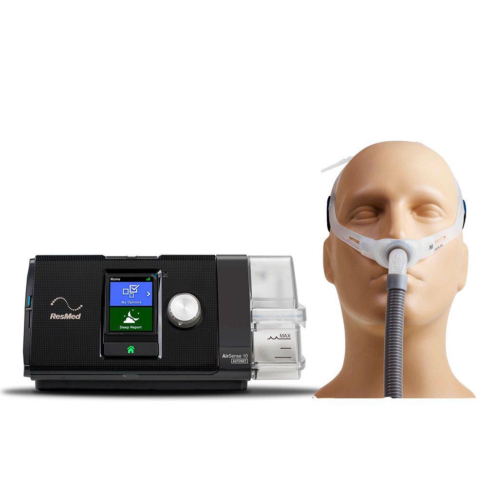 Kit CPAP Automático AirSense 10 AutoSet + Umidificador + Swift FX Resmed