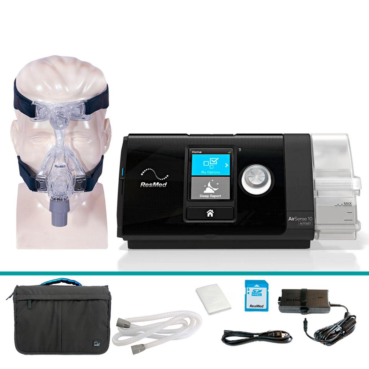 Kit CPAP Automático AirSense 10 com Umidificador + Máscara Mirage Micro Resmed