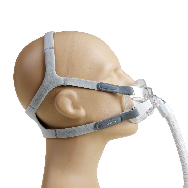 Kit CPAP Automático Airsense 10 + Umidificador Resmed + Máscara Amara View Philips Respironics