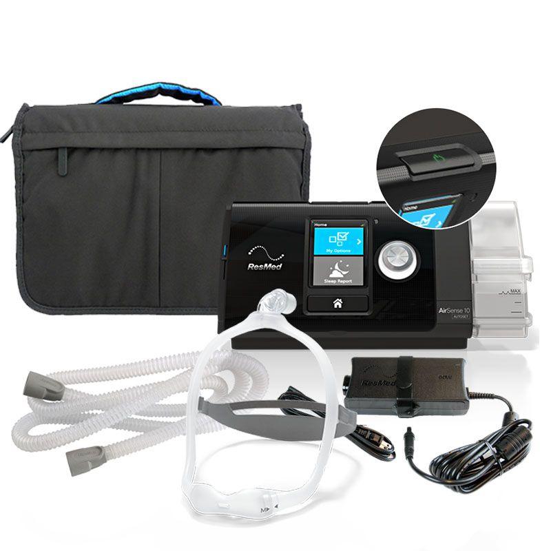 Kit CPAP Automático AutoSet S10 com umidificador + Máscara Nasal DreamWear