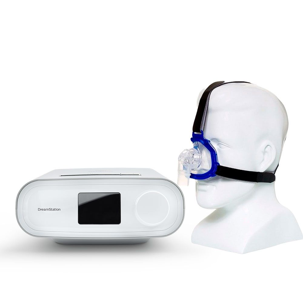 Kit CPAP Automático DreamStation Philips Respironics + Máscara Nasal Meridian