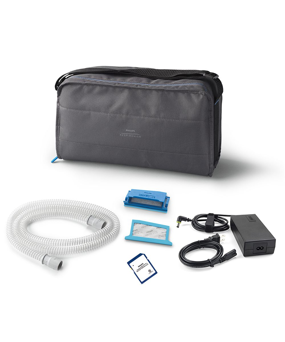 Kit CPAP Automático DreamStation + Umidificador + Máscara Nasal TrueBlue Philips Respironics