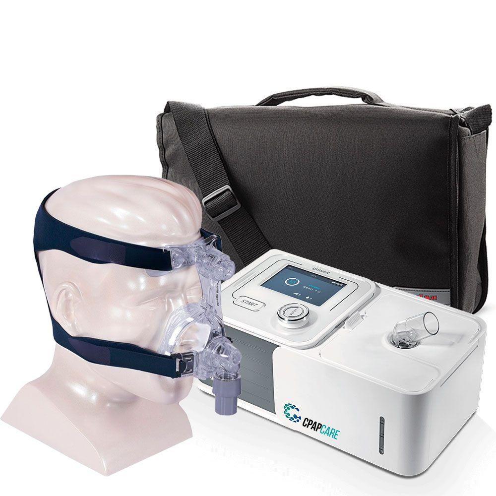 Kit CPAP Automático Yuwell + Umidificador + Máscara Nasal Mirage Micro