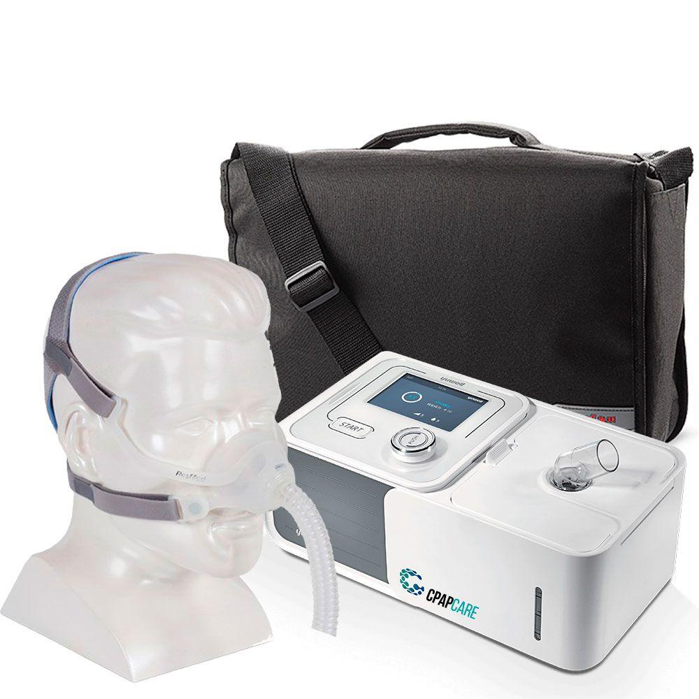 Kit CPAP Automático Yuwell + Umidificador + Máscara Nasal N10