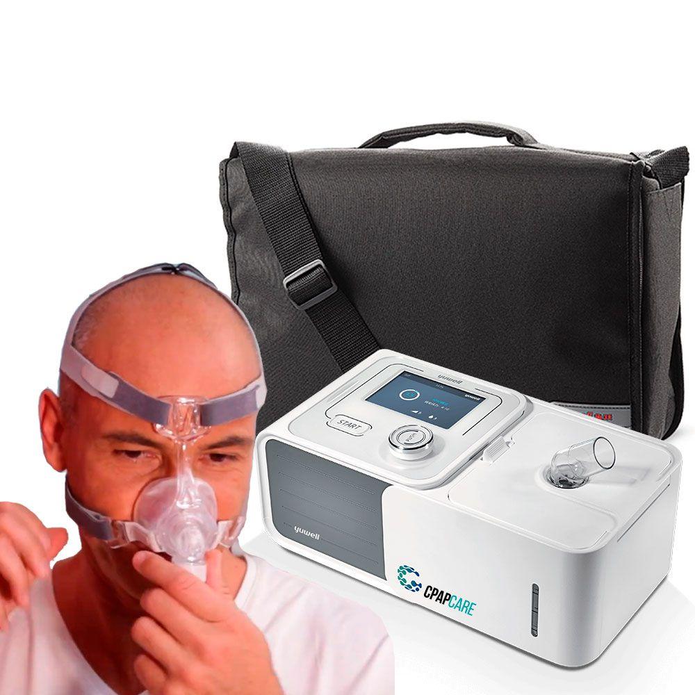 Kit CPAP Automático Yuwell + Umidificador + Máscara Nasal Respireo Soft