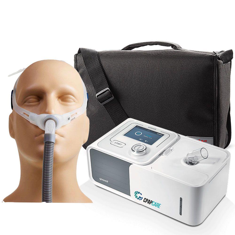 Kit CPAP Automático Yuwell + Umidificador + Máscara Nasal Swift FX