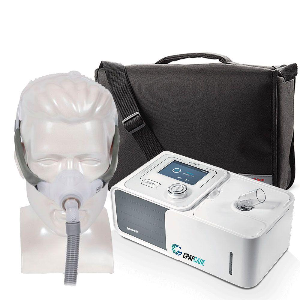 Kit CPAP Automático Yuwell + Umidificador + Máscara Nasal Swift FX Nano