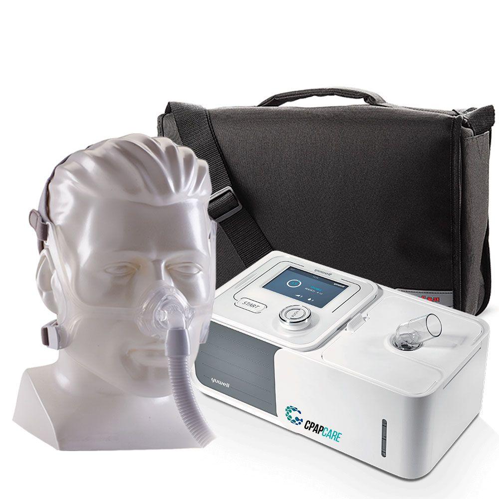 Kit CPAP Automático Yuwell + Umidificador + Máscara Nasal Wisp Silicone