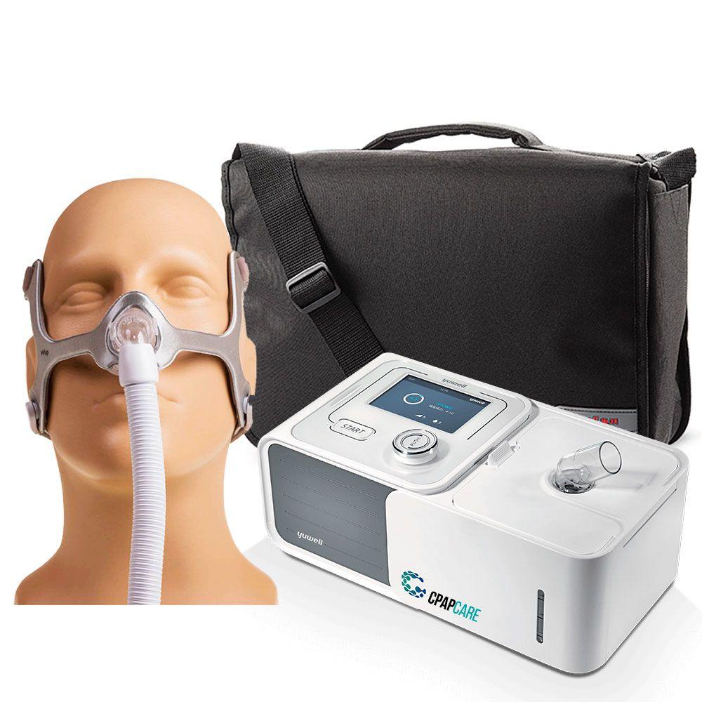 Kit CPAP Automático Yuwell + Umidificador + Máscara Nasal Wisp Tecido