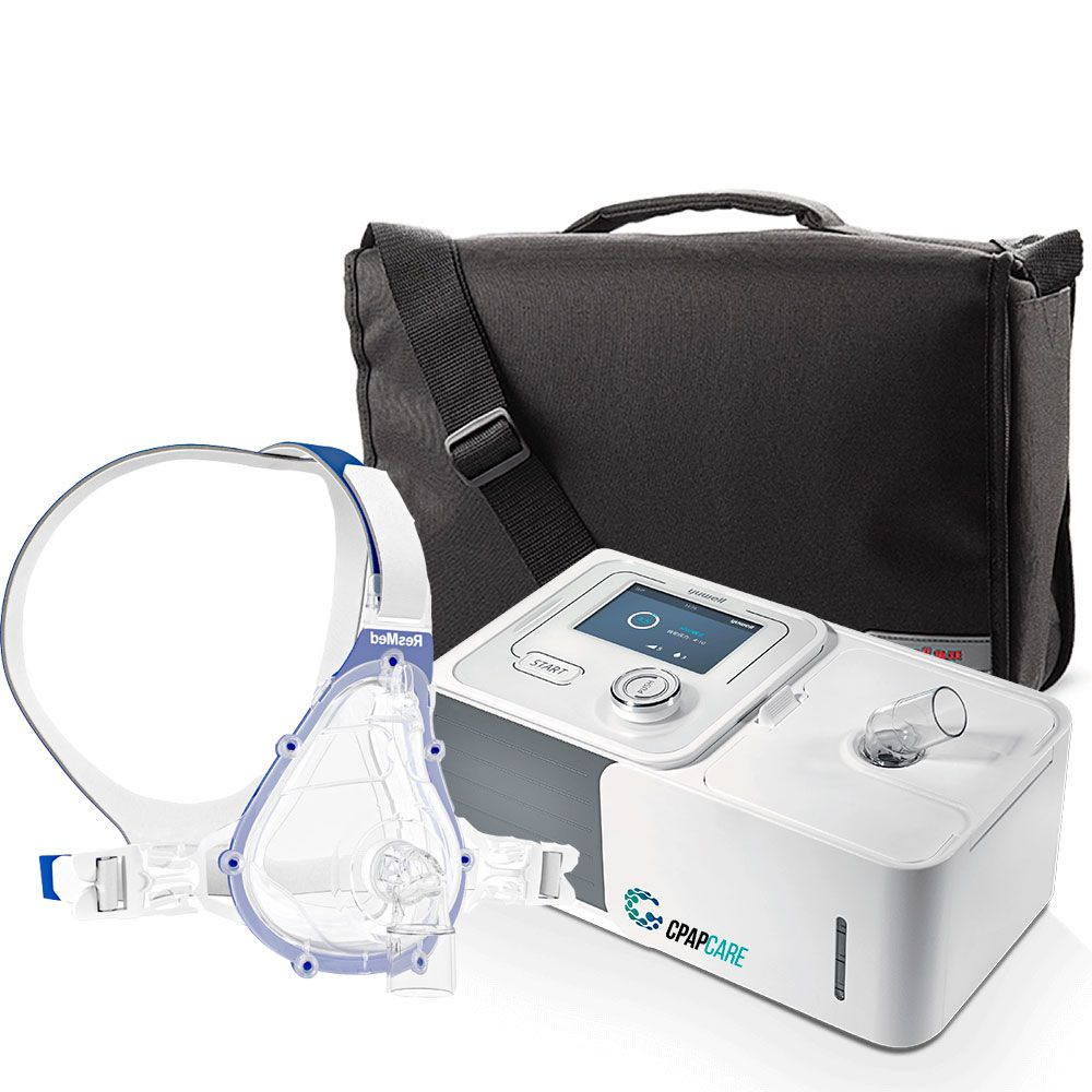 Kit CPAP Automático Yuwell + Umidificador + Máscara Oronasal Ventilada AcuCare F1-4