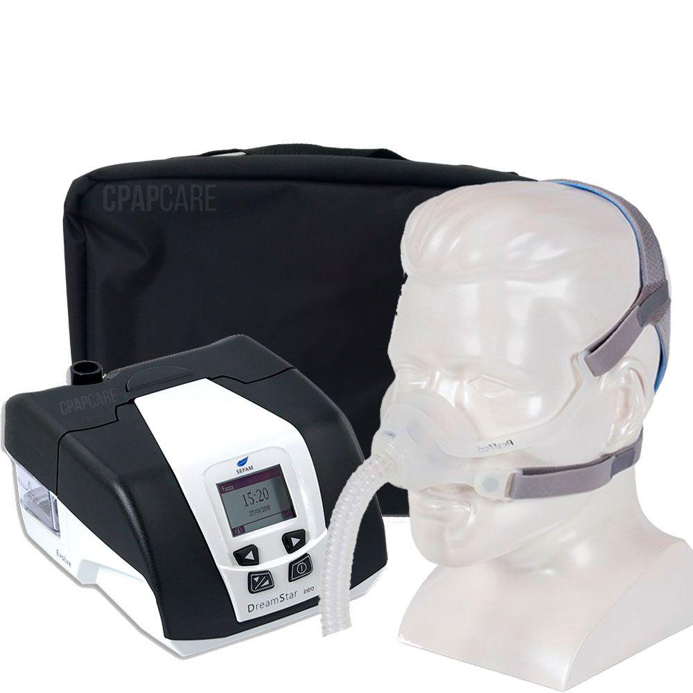 KIT CPAP DreamStar Intro + Umidificador + Máscara Nasal AirFit N10