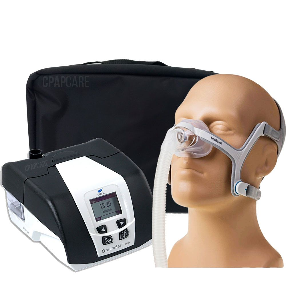 KIT CPAP DreamStar Intro + Umidificador + Máscara Nasal AirFit N20