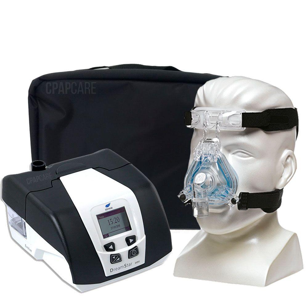 KIT CPAP DreamStar Intro + Umidificador + Máscara Nasal ComfortGel Blue