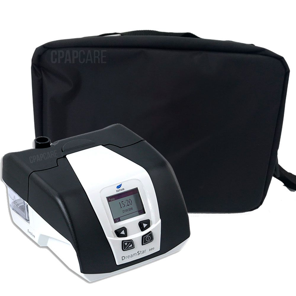 KIT CPAP DreamStar Intro + Umidificador + Máscara Nasal ComfortGel Blue