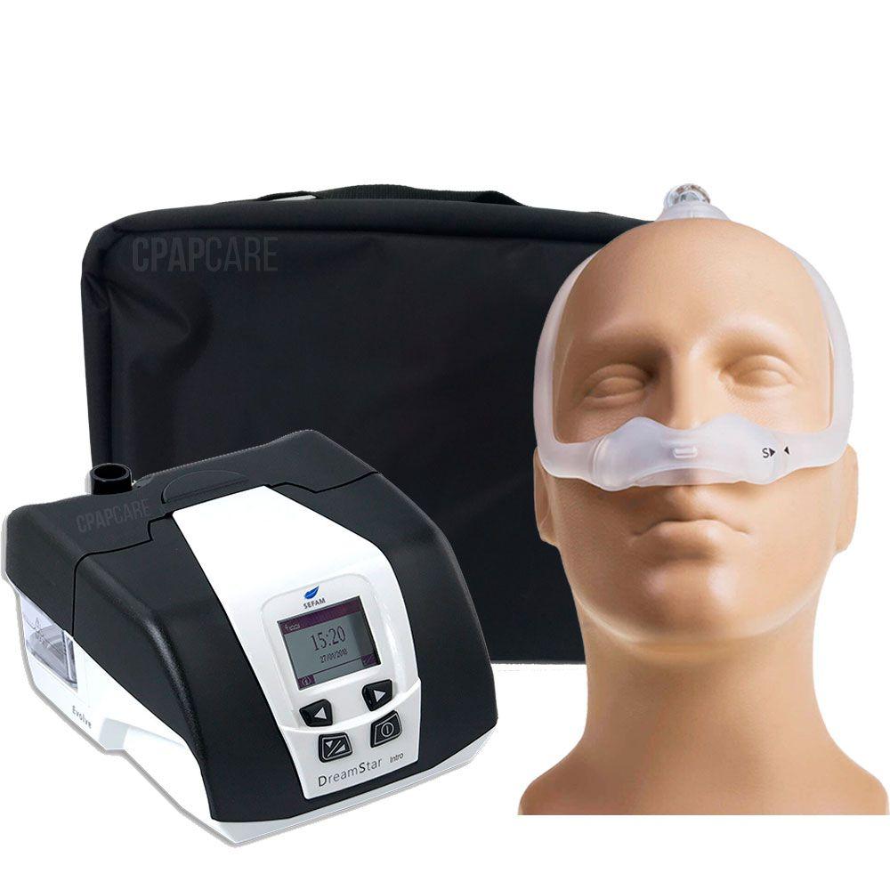 KIT CPAP DreamStar Intro + Umidificador + Máscara Nasal DreamWear