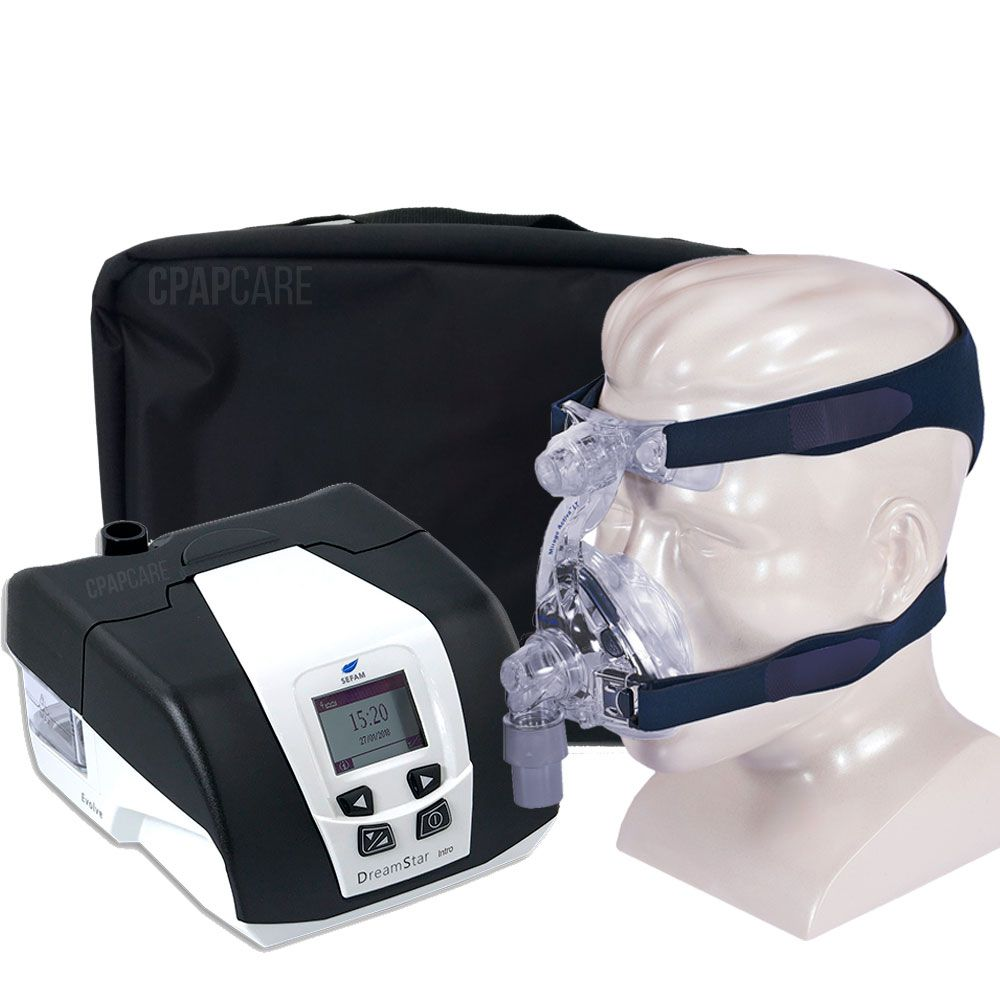 KIT CPAP DreamStar Intro + Umidificador + Máscara Nasal Mirage Activa LT