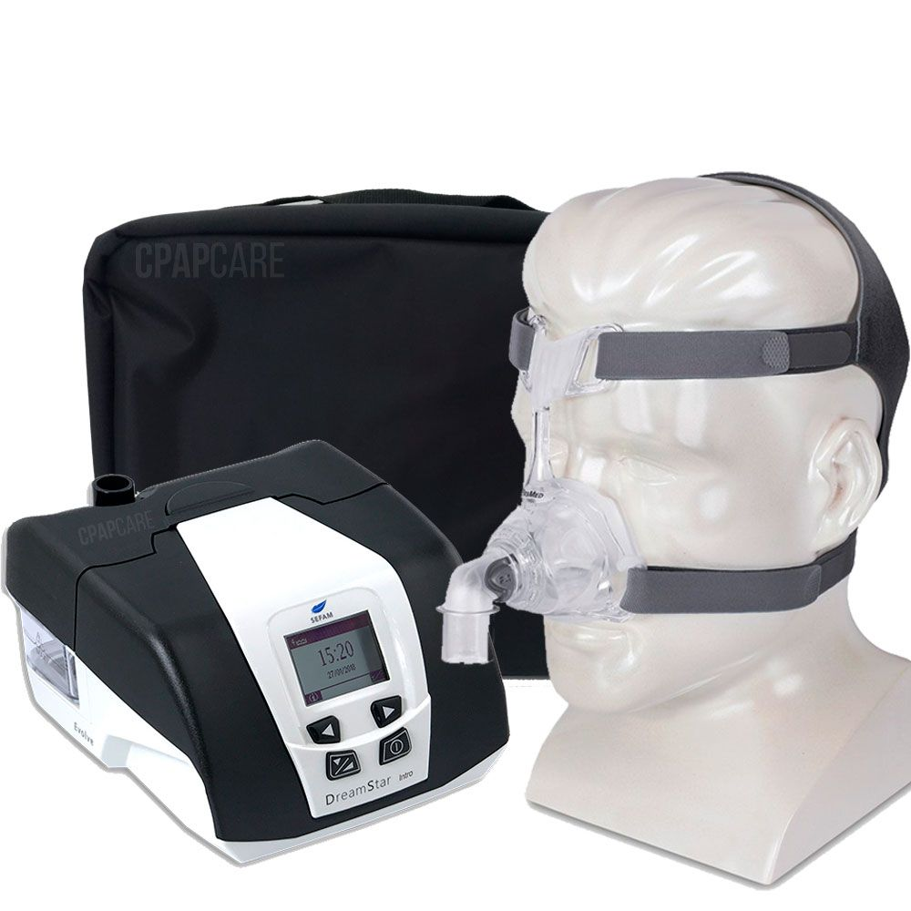 KIT CPAP DreamStar Intro + Umidificador + Máscara Nasal Mirage FX