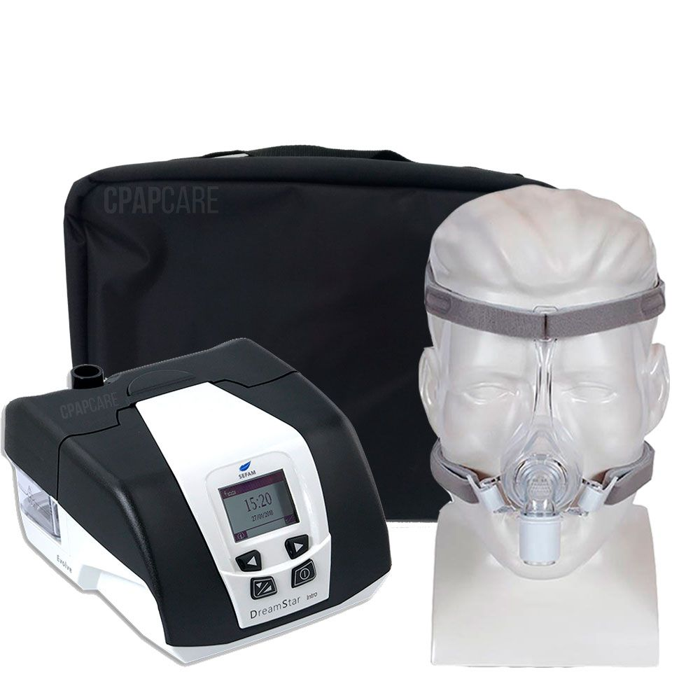 KIT CPAP DreamStar Intro + Umidificador + Máscara Nasal Pico