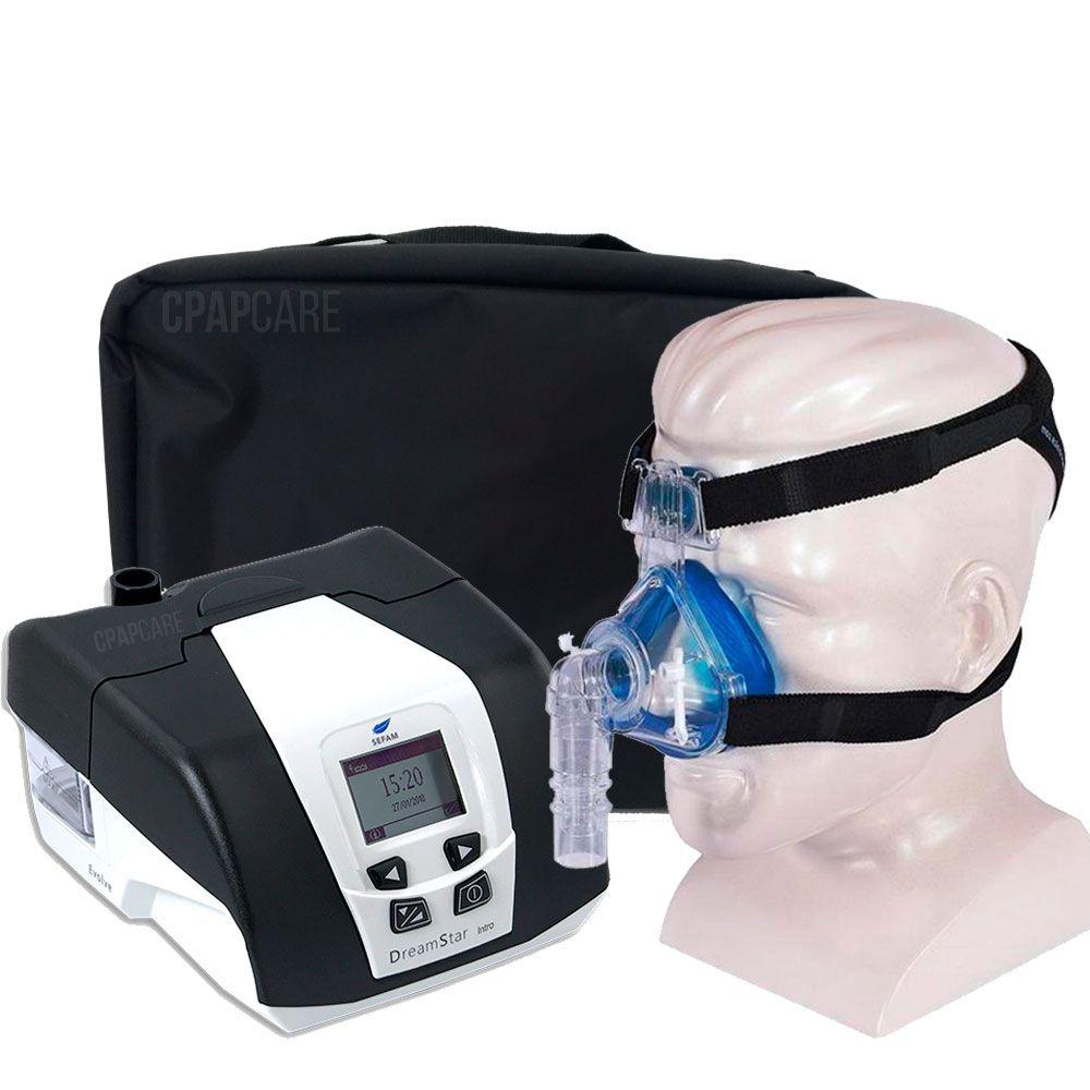 KIT CPAP DreamStar Intro + Umidificador + Máscara Nasal Profile Lite