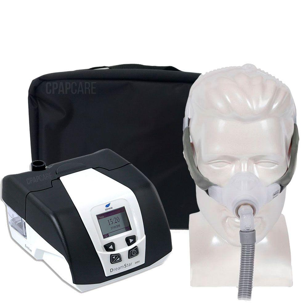 KIT CPAP DreamStar Intro + Umidificador + Máscara Nasal Swift FX Nano