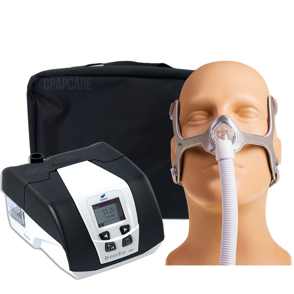 KIT CPAP DreamStar Intro + Umidificador + Máscara Nasal Tecido