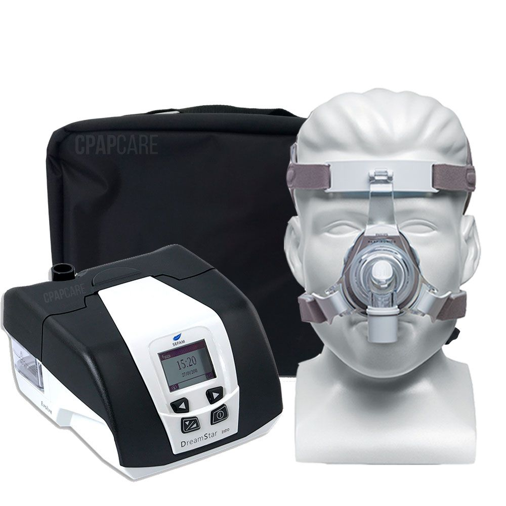 KIT CPAP DreamStar Intro + Umidificador + Máscara Nasal TrueBlue