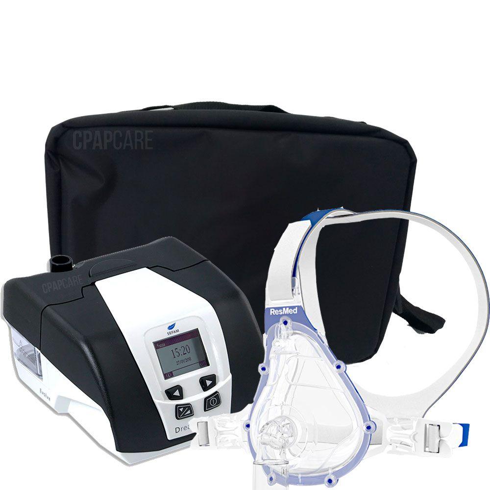 KIT CPAP DreamStar Intro + Umidificador + Máscara Oronasal AcuCare F1-4
