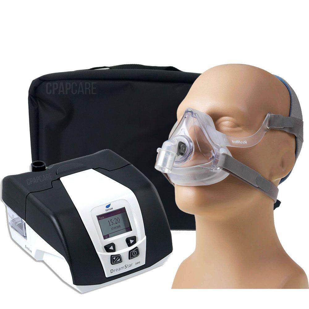 KIT CPAP DreamStar Intro + Umidificador + Máscara Oronasal AirFit F10