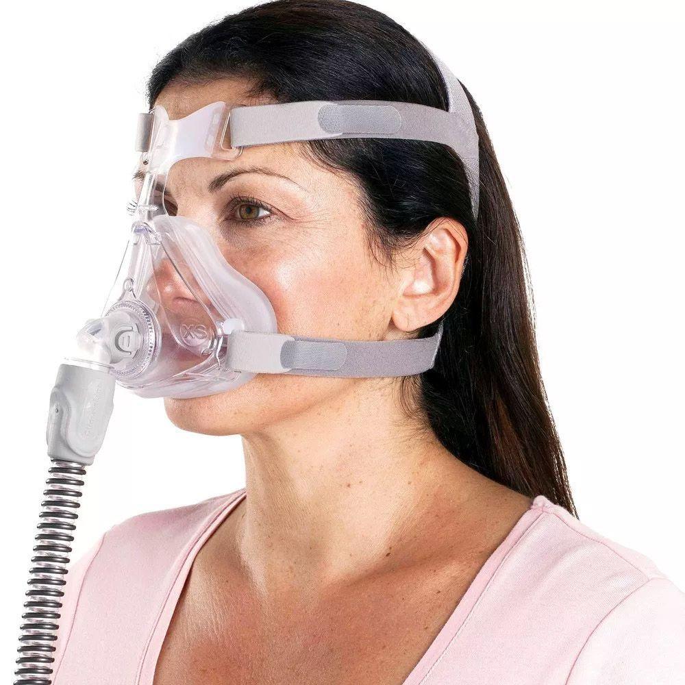 KIT CPAP DreamStar Intro + Umidificador + Máscara Oronasal Quattro Air For Her