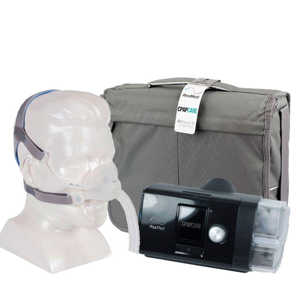 Kit CPAP Fixo AirSense 10 Elite + Umidificador + Máscara Nasal AirFit N10