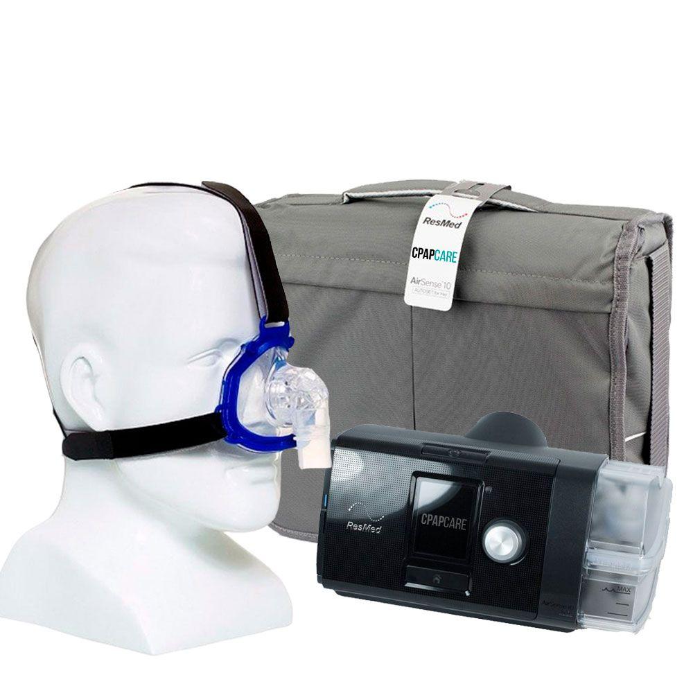 Kit CPAP Fixo AirSense 10 Elite + Umidificador + Máscara Nasal Meridian