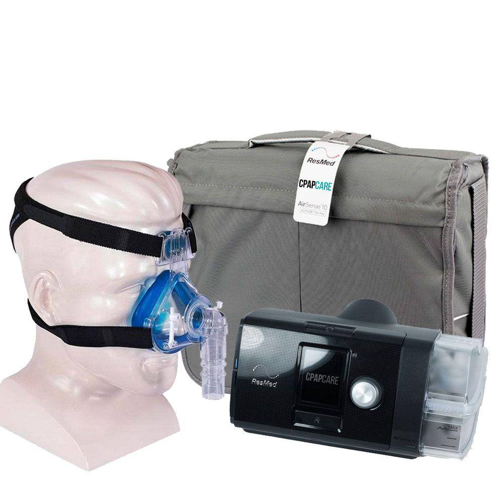 Kit CPAP Fixo AirSense 10 Elite + Umidificador + Máscara Nasal  Profile Lite