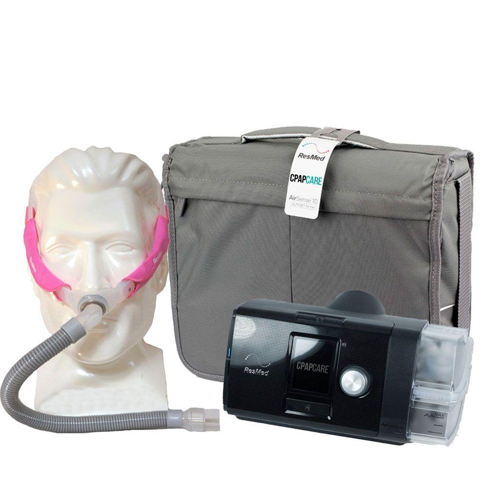 Kit CPAP Fixo AirSense 10 Elite + Umidificador + Máscara Nasal  Swift FX For Her