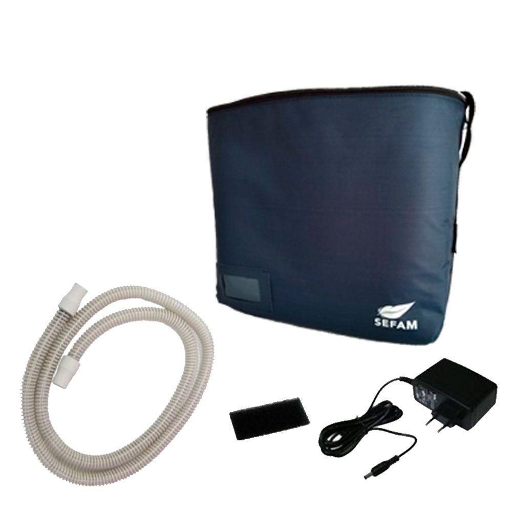 Kit CPAP Fixo Ecostar Sefam + Máscara Nasal Wisp Philips Respironics