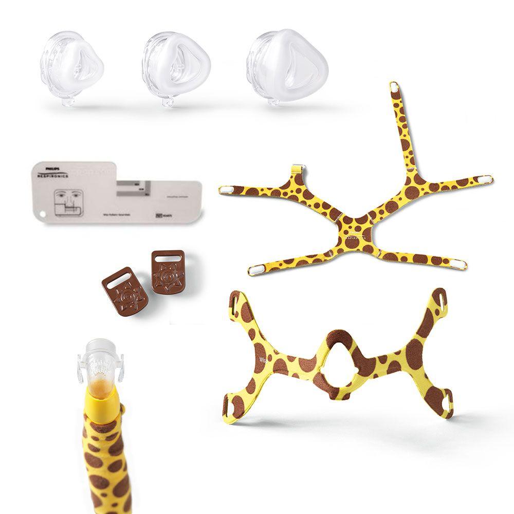 Máscara Infantil Wisp Design Girafa - Philips Respironics