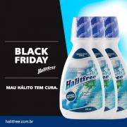 BLACK FRIDAY - COMBO 3 Unidades - Halitfree 250ml - Enxaguante bucal sabor menta