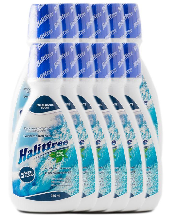 COMBO 12 Unidades - Halitfree 250ml - Enxaguante bucal sabor menta